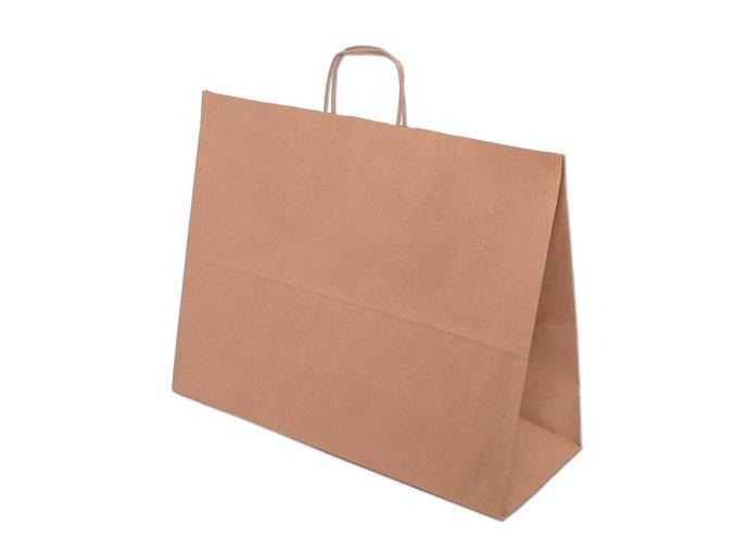 Papírová Eko taška 50 x 18 x 39 cm - přírodní
