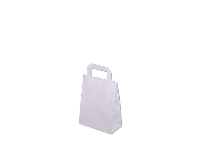 Papírová taška 180x80x230mm - Bílá