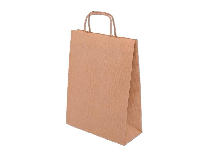 Papírová taška 24 x 10 x 32 cm - přírodní