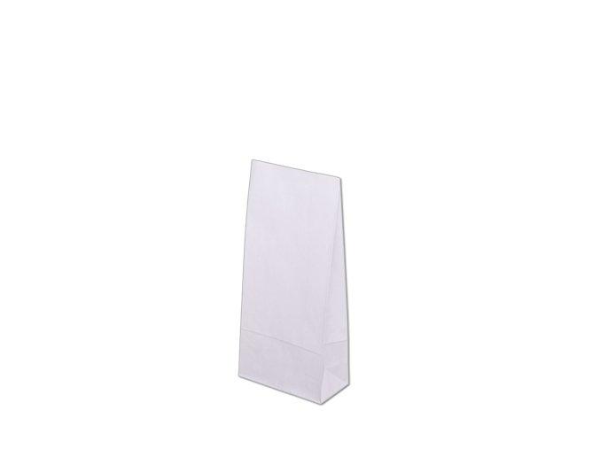 Papírová taška bez uch 100x70x260mm - Bílá