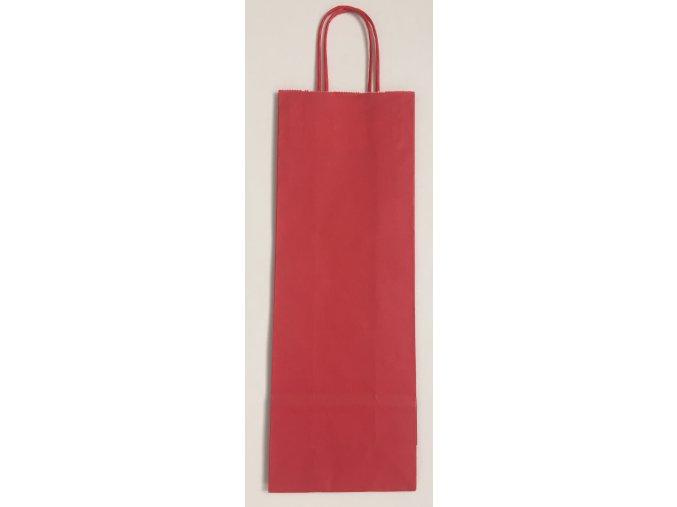 Papírová taška na víno 14x8x39cm - červená