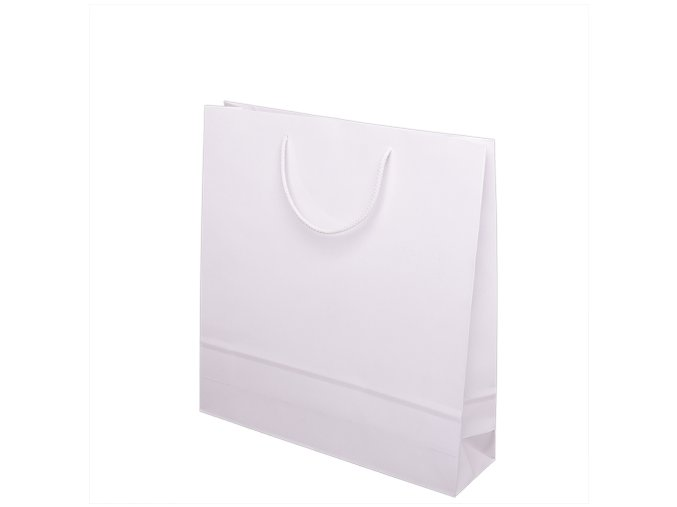 Papírové barevné tašky 300x100x400mm - bílá