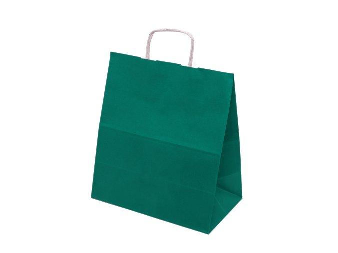 Papírové barevné tašky 305x170x340mm - tmavě zelená