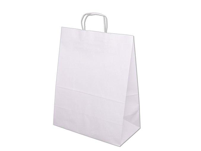 Papírové tašky 350x180x440mm - bílá