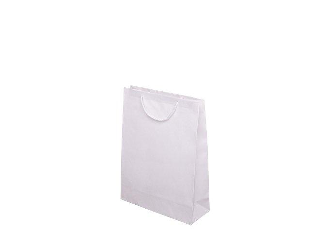 Papírové tašky barevné 240x90x320mm - bílá