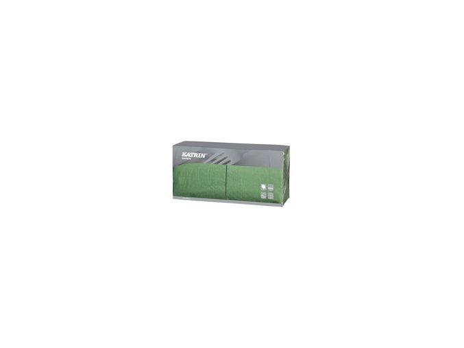 Papírové ubrousky Lunch 3-vrstvý, skládání 1/4 - 114393 - Zelená