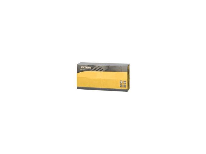 Papírové ubrousky Lunch 3-vrstvý, skládání 1/8 - 114792 - Žlutá