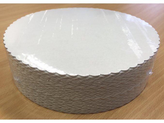 Podložka z lepenky pod dort slunečnice 28cm (cena za 100ks)