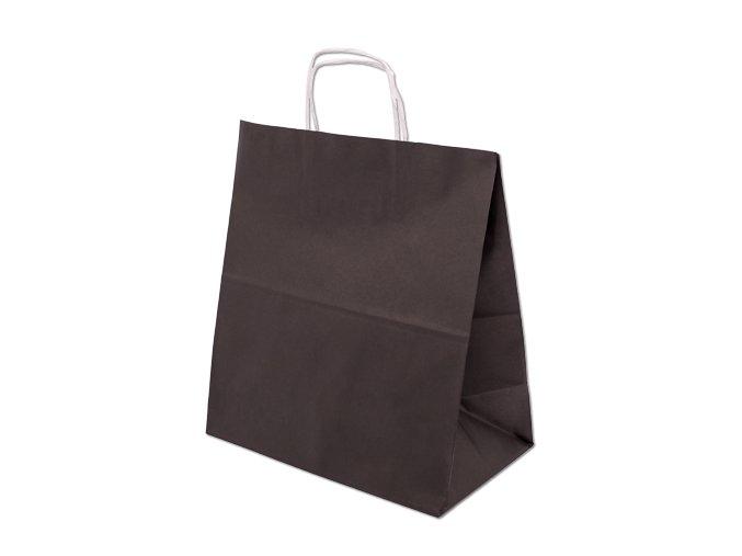 Barevná papírová taška 305x170x340mm - černá - 13.0111