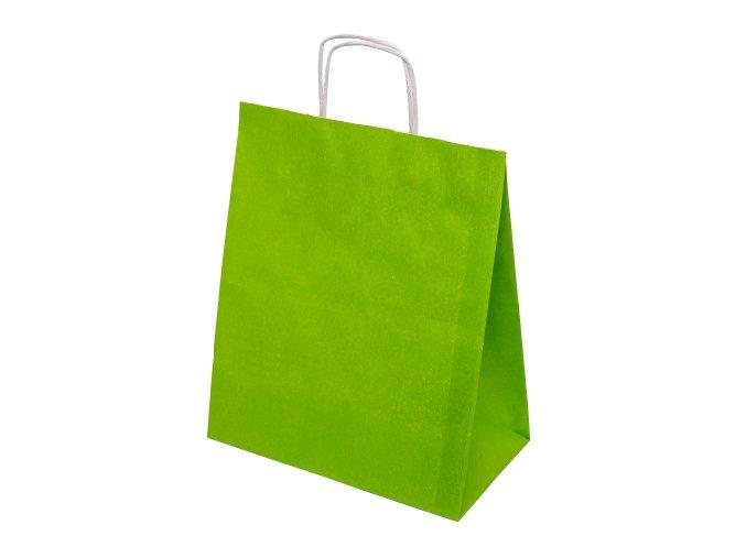 Barevná papírová taška 305x170x340mm - světle zelená - 13.0126