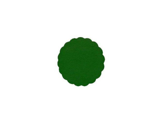 Rozetky papírové 9cm tmavě zelená (cena za 500ks) - 36.0037