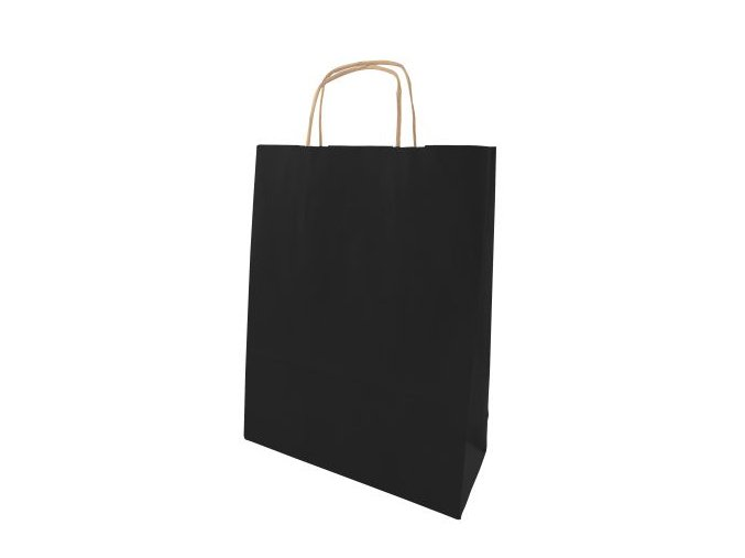 Barevná taška papírová 240x100x320mm - černá - 13.0110