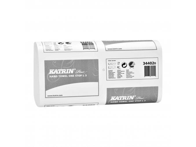 Skládané papírové ručníky KATRIN PLUS One Stop L3 - 344020