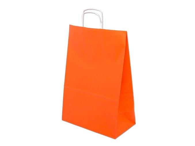 Barevná taška papírová 240x100x320mm - oranžová - 13.0135