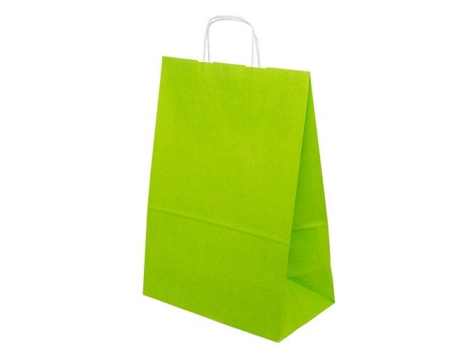Barevná taška papírová 240x100x320mm - světle zelená - 13.0125