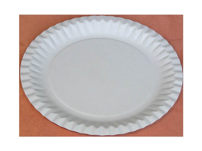 Talíř papírový mělký průměr 18cm (cena za 100ks) - 72.0063