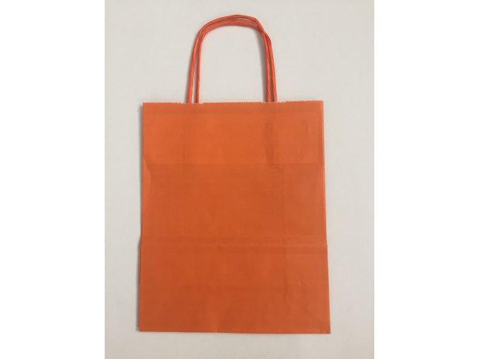 Taška papírová 18x8x22cm - oranžová