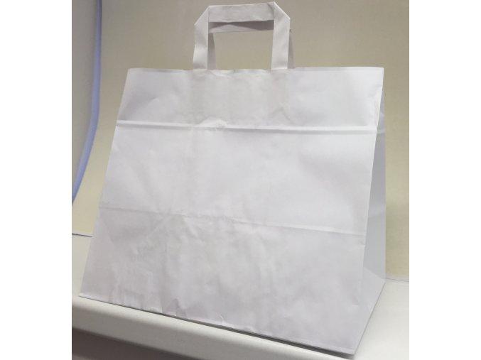 Taška papírová 320x210x270mm bílá na menu box
