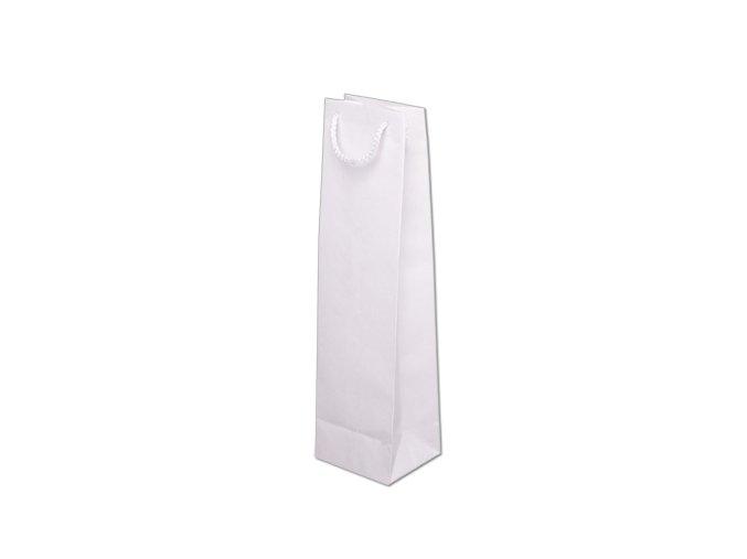 Taška papírová barevná 110x90x400mm - bílá