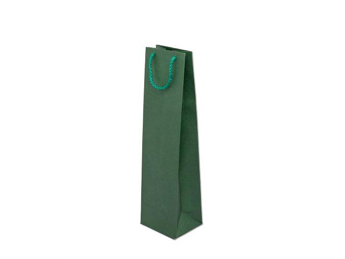 Taška papírová barevná 110x90x400mm - zelená