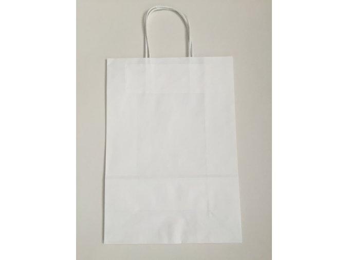 Taška papírová PLUS 14x8x21cm - bílá