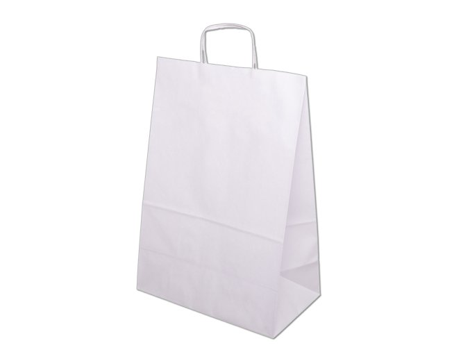 Tašky papírové 330x120x500mm - bílá