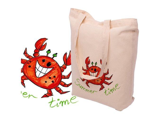 Bavlněná taška s potiskem KRAB - 15.0010
