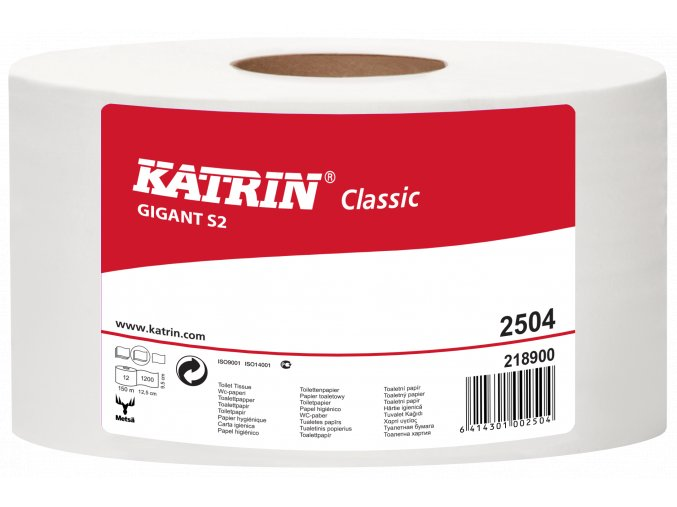 Toaletní papír jumbo KATRIN CLASSIC GIGANT S2 - 2504