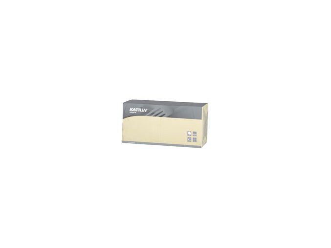 Ubrousky papírové Lunch 3-vrstvý, skládání 1/4 - 114485 - Créme