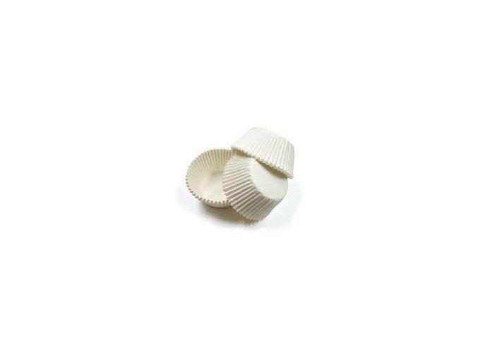 Cukrářské košíčky bílé pr.28x16mm  (cena za 1000ks)