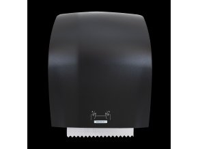 40711 katrin system dispenser XL black front with paper