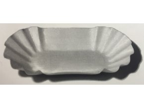 Papírová misky 8x14,5x2,5cm bílá (cena za 250ks)