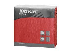 Papírové ubrousky 1-vrstvé KATRIN Snack - 116038 - Červená