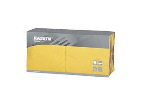 Papírové ubrousky Lunch 3-vrstvý, skládání 1/4 - 114546 - Žlutá
