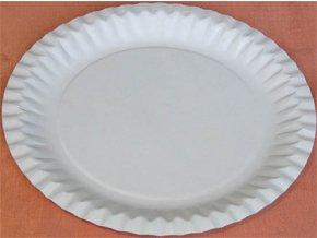 Talíř papírový mělký průměr 23cm (cena za 100ks)