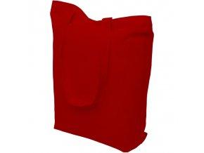 Bavlněná nákupní taška červená - 390x410mm