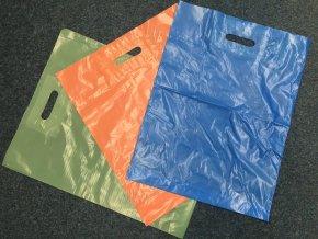 Taška igelitová se zpevněným průhmatem barevná - 380x450+50mm