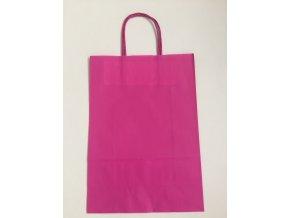 Taška papírová 18x8x22cm - růžová