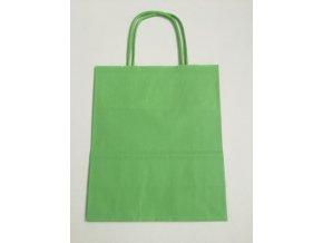 Taška papírová 18x8x22cm - zelená