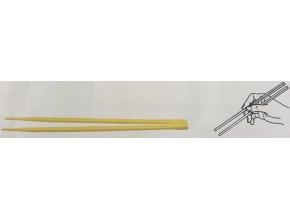 Čínské hůlky 21cm, ?6mm hygienicky balené po páru