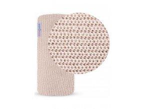 BAMBO-Bambusová bavlněná deka PUDROVÁ 100x80cm