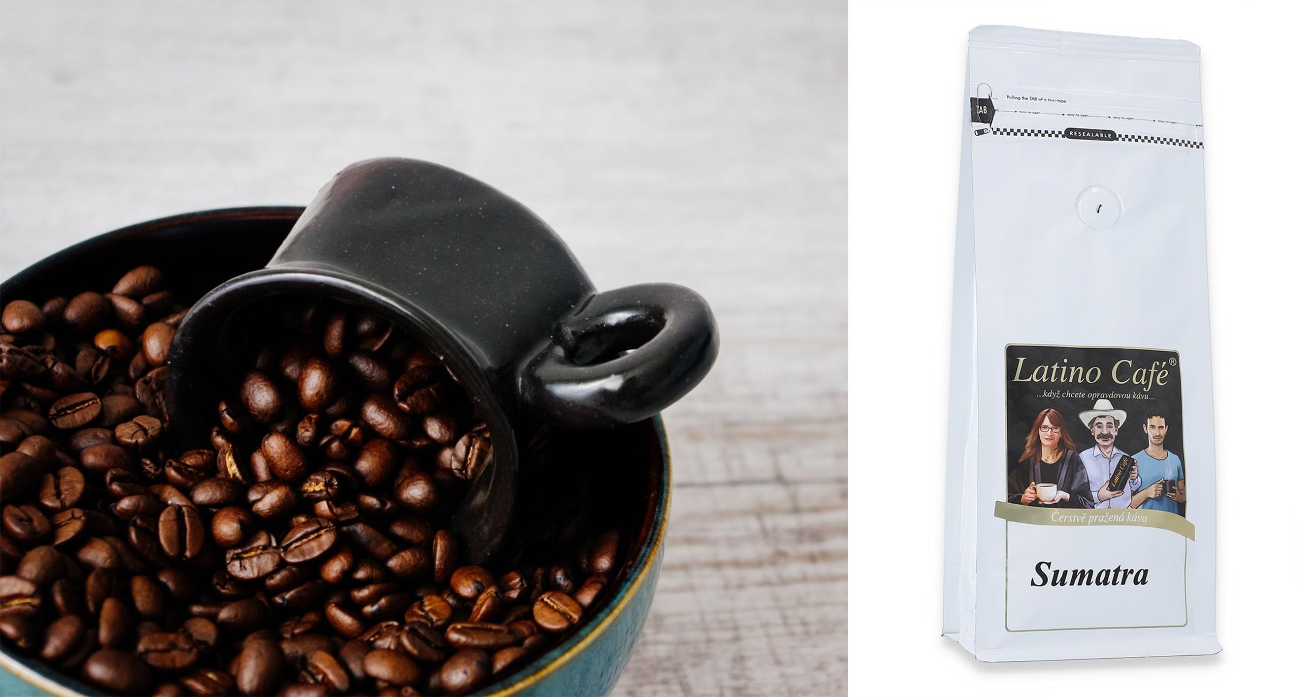 Sumatra - Jemná káva pro milovníky mléka i cukru