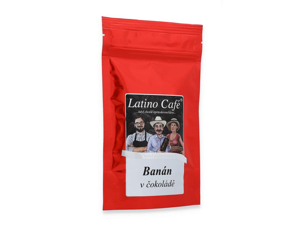 Čerstvě pražená káva - Banán v čokoládě