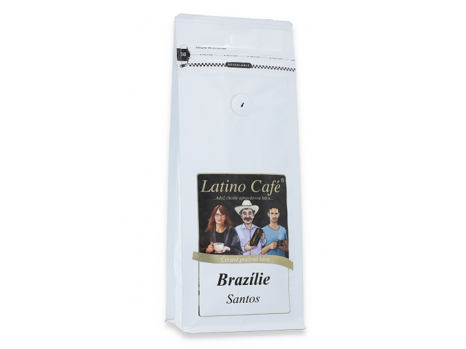 Čerstvě pražená káva arabica Brazílie Santos