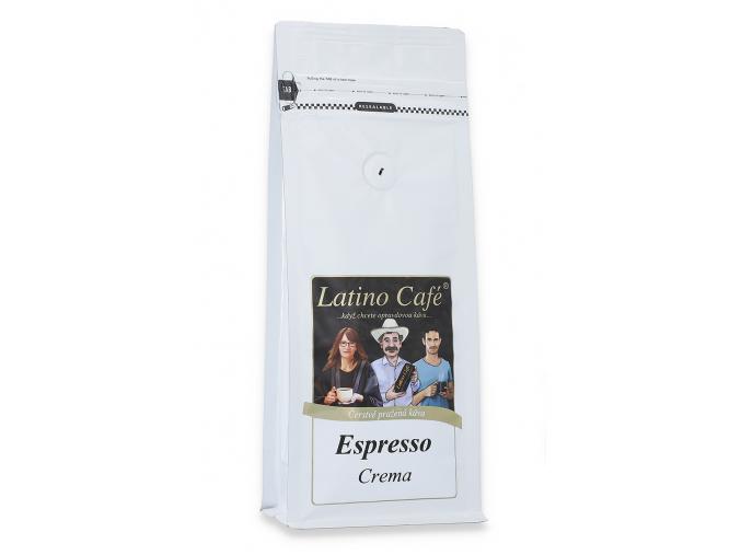 Čerstvě pražená káva arabica Latino Café Expresso Crema