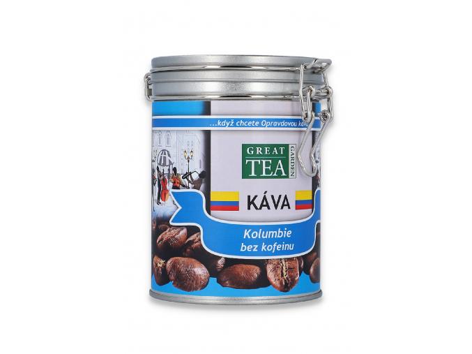 Mletá káva arabica Kolumbie bez kofeinu