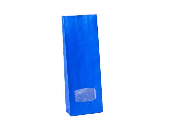 Sáček modrý s okénkem 100g