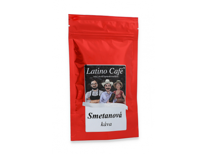 Čerstvě pražená káva se smetanou