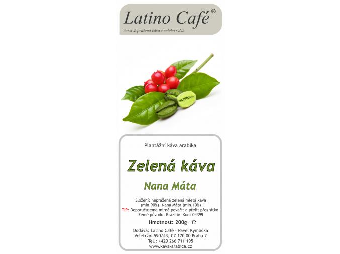 Zelená káva s Mátou