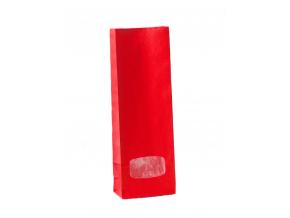 Sáček červený s okénkem 100g